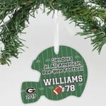 """Personalized Aluminum Ornament - """"Football Number"""""""