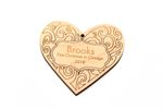 Heart Personalized Christmas Wooden Ornament