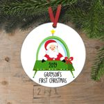 Santa Space Ship Personalized Ornament Christmas Gift for Boys