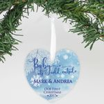 """Personalized Aluminum Heart Ornament - """"Baby It's Cold Outside"""""""