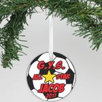 Personalized Aluminum Ornament Soccer