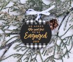 Engagement Reveal Christmas Ornament Custom Year For Christmas Tree Decoration, Christmas Gifts