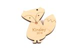 Fox Personalized Christmas Wooden Ornament