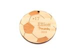Soccer Ball Personalized Christmas Wooden Ornament