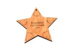 Star Of Bethlehem Personalized Christmas Wooden Ornament