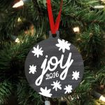 Personalized Custom & Year Ornament For Christmas Gifts
