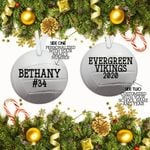 Personalized Volleyball Christmas Ornament, Volleyball Gift