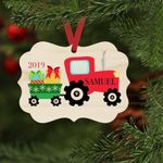 Tractor Farm Christmas Gifts Personalized Christmas Ornament