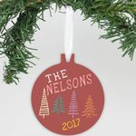 """Personalized Aluminum Ornament - """"Christmas Tree's"""""""
