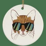 Egyptian Mau Cat Ornament Christmas Tree Ornaments Holiday Decor