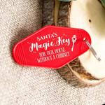 Santa's Key Vintage Motel Key Chain Novelty Ornament