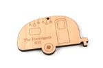 Camper Personalized Christmas Wooden Ornament
