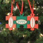 """Personalized Ornament - """"Family Name Puzzle"""""""