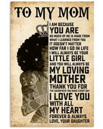 Daughter To Mom I Love You With All My Heart Vertical Poster