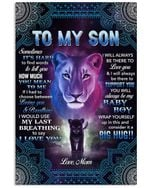 Lion To My Son Sometimes Its Hard To Find Word To Mom Vertical Poster