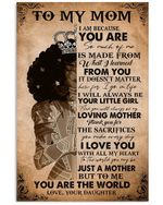 Daughter To Mom To Me You Are The World Vertical Poster
