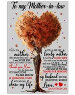 Daughter In Law To Mother In Law Thanks For Bringing My Husband Into This World Vertical Poster