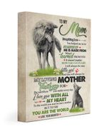 You Are The Word Meaningful Gift For Mom From Daughter Wolfs Matte Canvas Matte Canvas