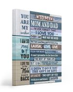 Gift For Mom And Dad Neveer Forget That I Love You Matte Canvas Matte Canvas