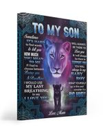 Lion To My Son Sometimes Its Hard To Find Word To Mom Matte Canvas
