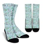 Science Equipment Pattern Printed Crew Socks