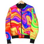 Abstract Colorful Liquid Trippy  3D Printed Unisex Jacket