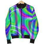 Neon Green Psychedelic Trippy  3D Printed Unisex Jacket