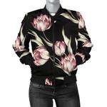 Tulip Pink Pattern 3D Printed Unisex Jacket