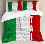 Italian Flag And Old Building 3D Bedding Set Bedroom Decor