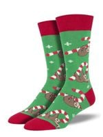 """Merry Slothmas"" Socks For Men Women Funny Unique Socks"