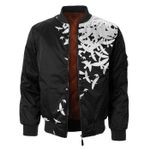 Doves Black And White 3D Printed Unisex Bomber Jacket