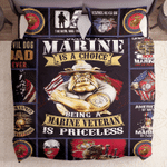Marine Veteran Is A Priceless Printed Bedding Set Bedroom Decor