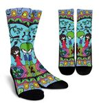 Pure Love Happily Ever After Printed Crew Socks