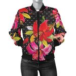 Pink And Red Lily Pattern 3D Printed Unisex Jacket