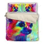Watercolor Chihuahua Printed Bedding Set Bedroom Decor