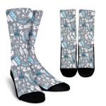 Real Estate Sold Pattern  Printed Crew Socks