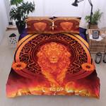 Lion Sun Sunflower Pattern Bedding Set Bedroom Decor