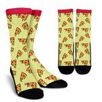 Delicious Pizza Pattern  Printed Crew Socks