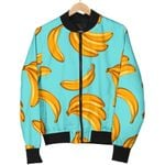 Blue Banana Pattern  3D Printed Unisex Jacket