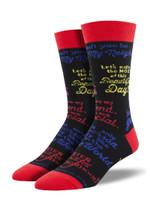 "Men's Mister Rogers ""Quotes"" Socks Comfortable Funny Cute Unique Socks"