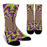 Green Explosion Moving Optical Illusion Unisex Crew Socks