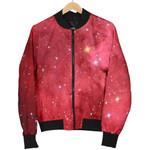 Red Galaxy Space Cloud  3D Printed Unisex Jacket