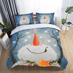 Christmas Let's It Snow Printed Bedding Set Bedroom Decor