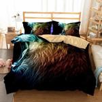 Lion Hair Neon Color Printed Bedding Set Bedroom Decor