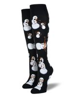"Women's ""Twisted Snowman"" Knee-High Socks Comfortable Funny Cute Unique Socks"