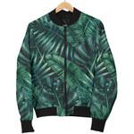 Watercolor Tropical Leaf Pattern 3D Printed Unisex Jacket