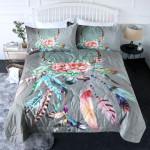 Dream Catcher Feather Printed Bedding Set Bedroom Decor