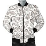 Cocoa Beans Leaves Pattern 3D Printed Unisex Jacket