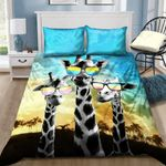 Giraffe With Sunglasses Printed Bedding Set Bedroom Decor