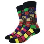 Disco Bigfoot Men's Crew Socks Comfortable Funny Cute Unique Socks
